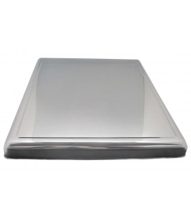 Cubreencimera chapa en inox grabada Medidas: 610 x 520 x 52 mm 40CU1920