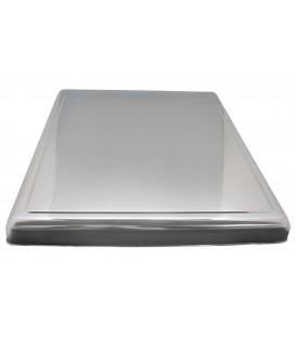 Cubreencimera chapa en inox grabadaMedidas: 610 x 520 x 52 mm 40CU1920