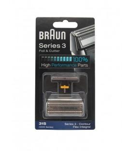 Lámina y cuchilla Braun 31S - 5000/6000 series plata 81387940