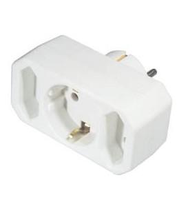 Adaptador multiple 3X euro o 2X EURO+1X schuko NV2WI