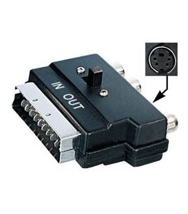 Adaptador euroconector a 3xRCA (IN-OUT)+HOSIDEN E-V49SV
