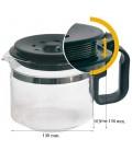 Jarra cafetera universal, regulable en altura 103x130mm 120UN0150