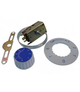 Termostato para frigorífico VT93 serie economica, longitud 2 mts.Temperatura: calor -11º / frío +3º a -26º 27FR3308